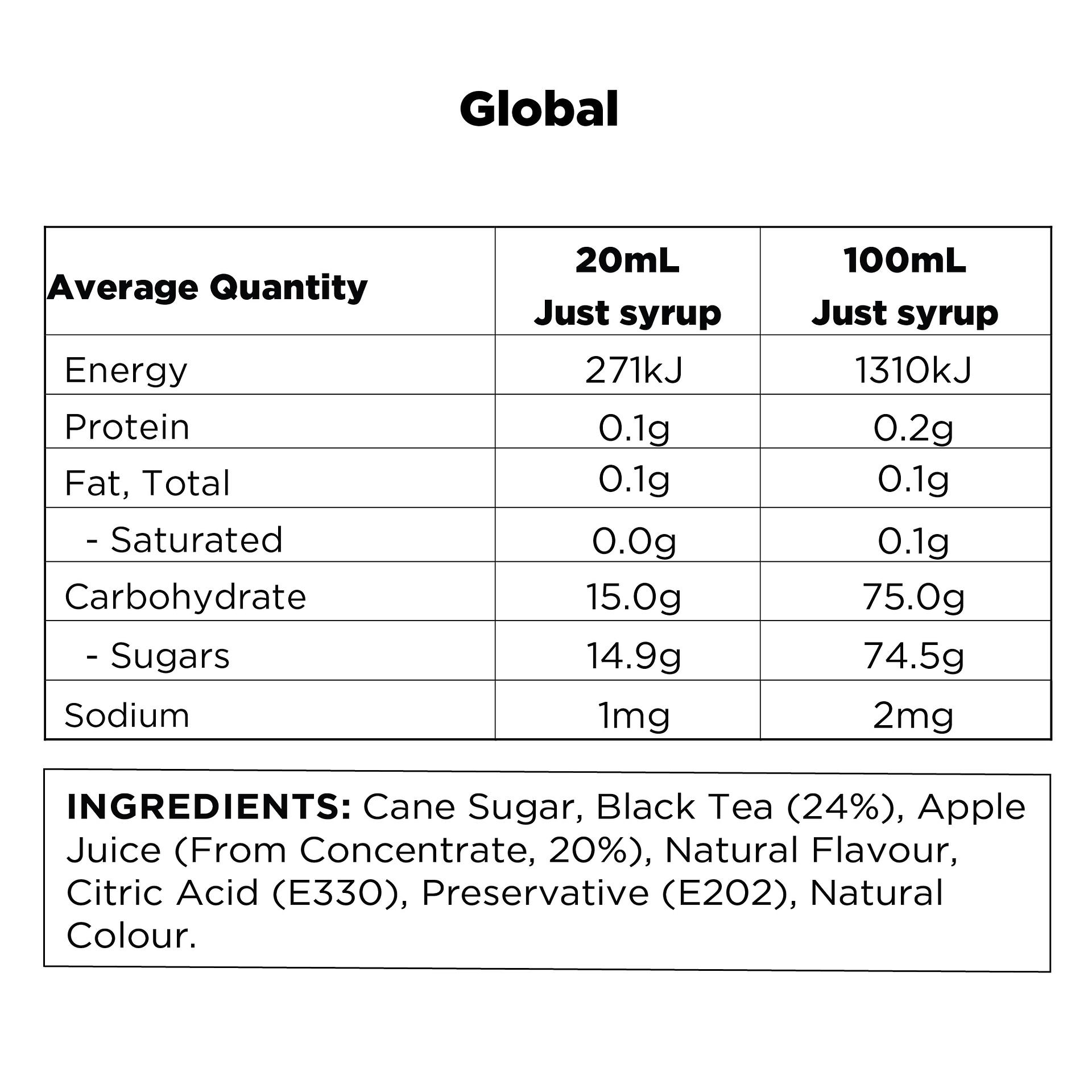 Q Black Tea & Apple Hot & Cold Infusion 500mL