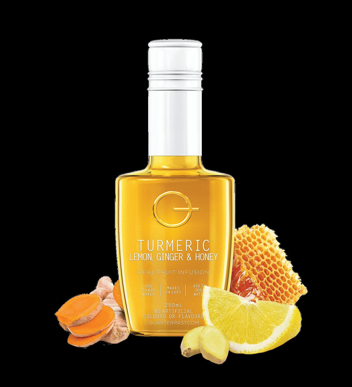 QTUR Turmeric Lemon Ginger & Honey Tea 250mL-ing