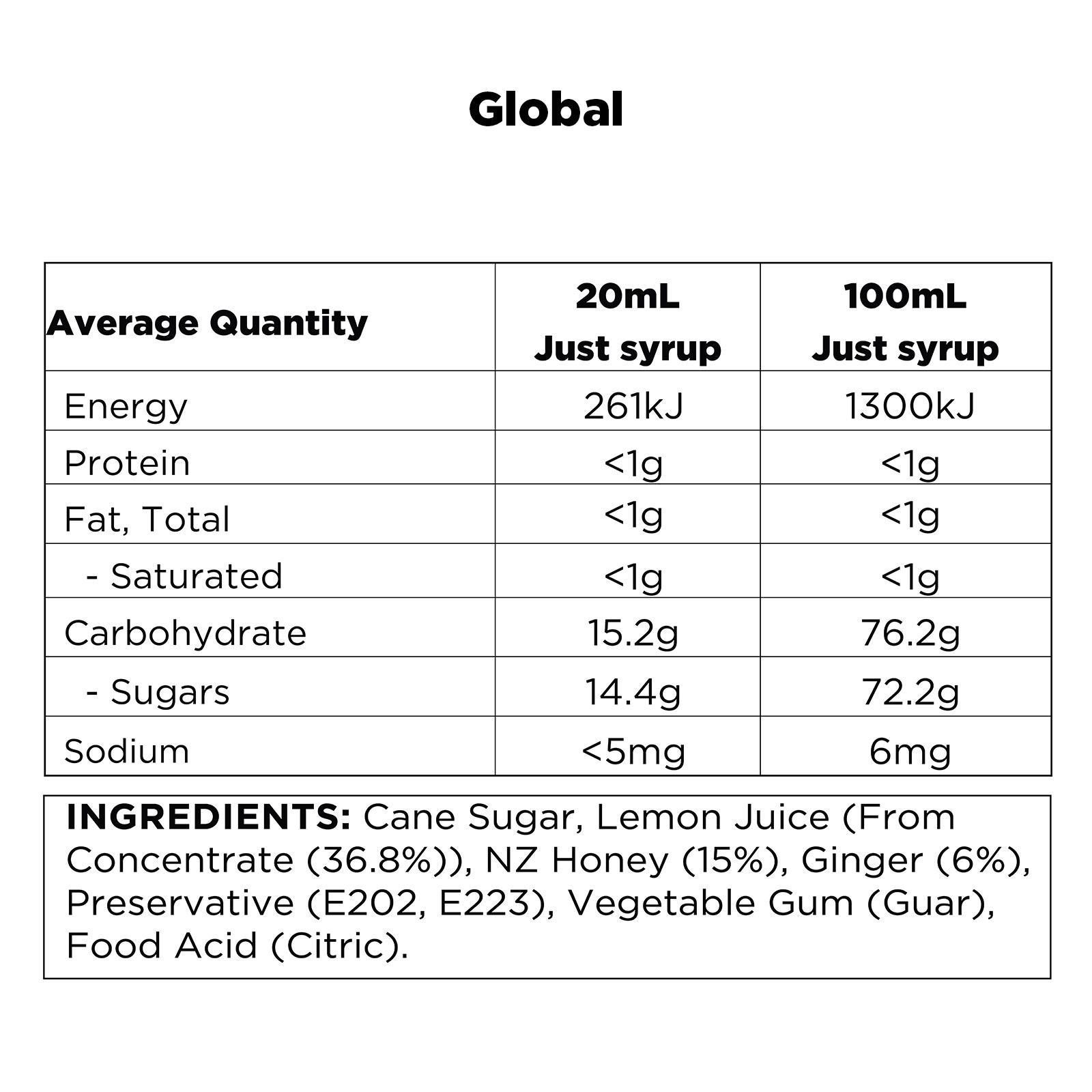 Q Lemon, Ginger & Honey Infusion Global