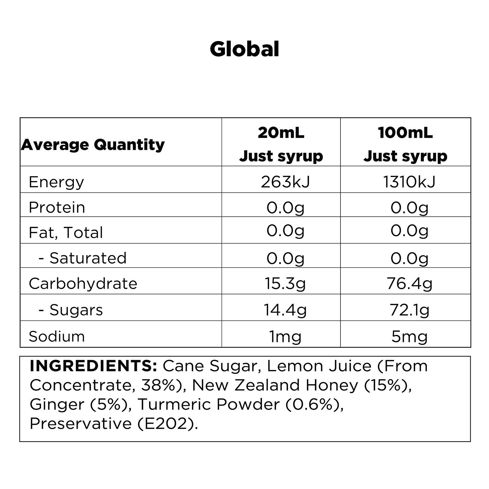 Q Turmeric, Lemon, Ginger & Honey Infusion Global
