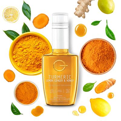 Q Turmeric Lemon Ginger & Honey Infusion 250mL