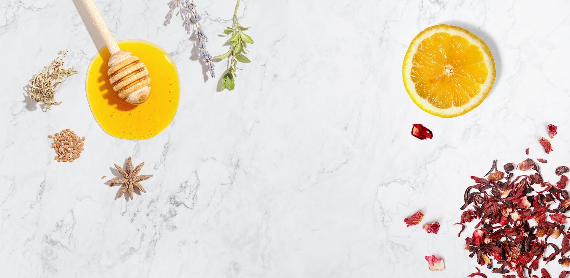tea_ingredients_lemon_honey_hibiscus