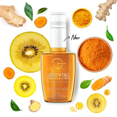 Q Gold Kiwi Turmeric & Ginger Infusion 250mL
