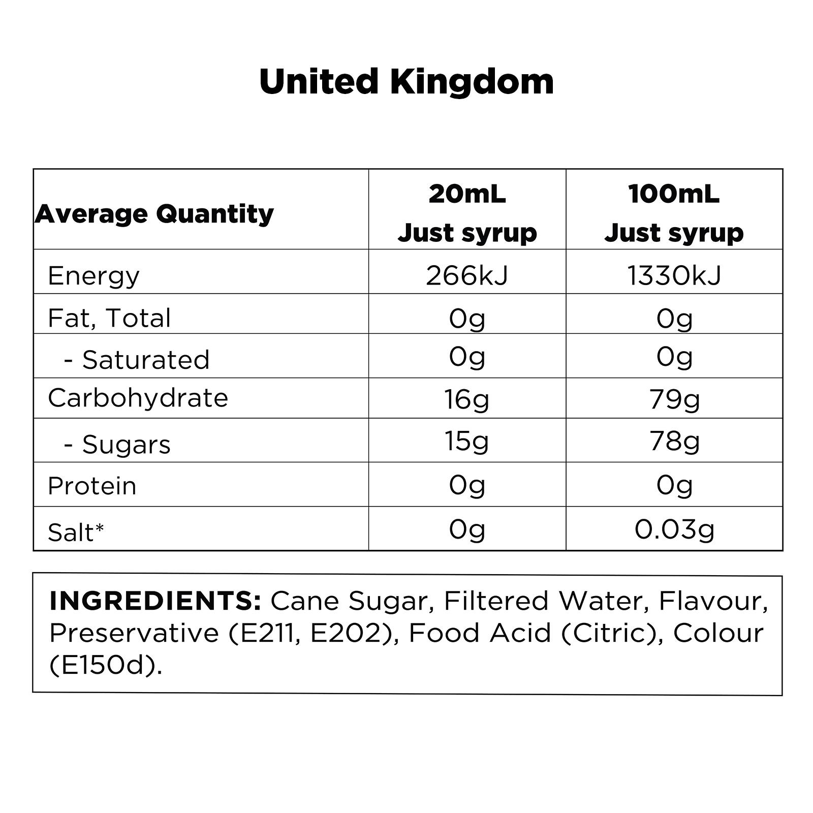 Q Hazelnut Syrup for Coffee UK