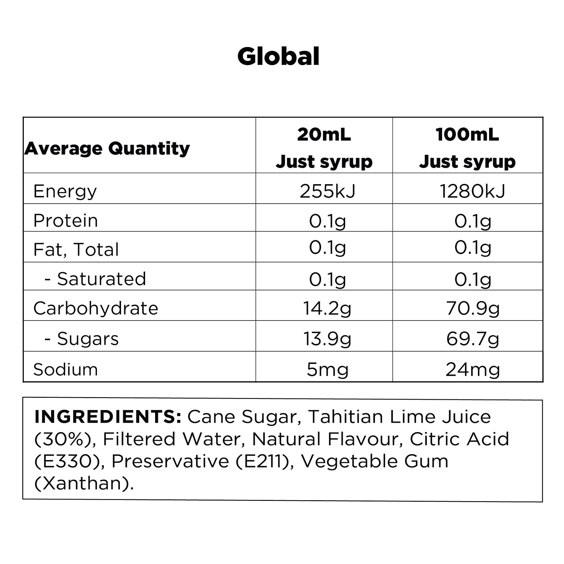 Q Tahitian Lime & Mint Real Fruit Mixer 500mL