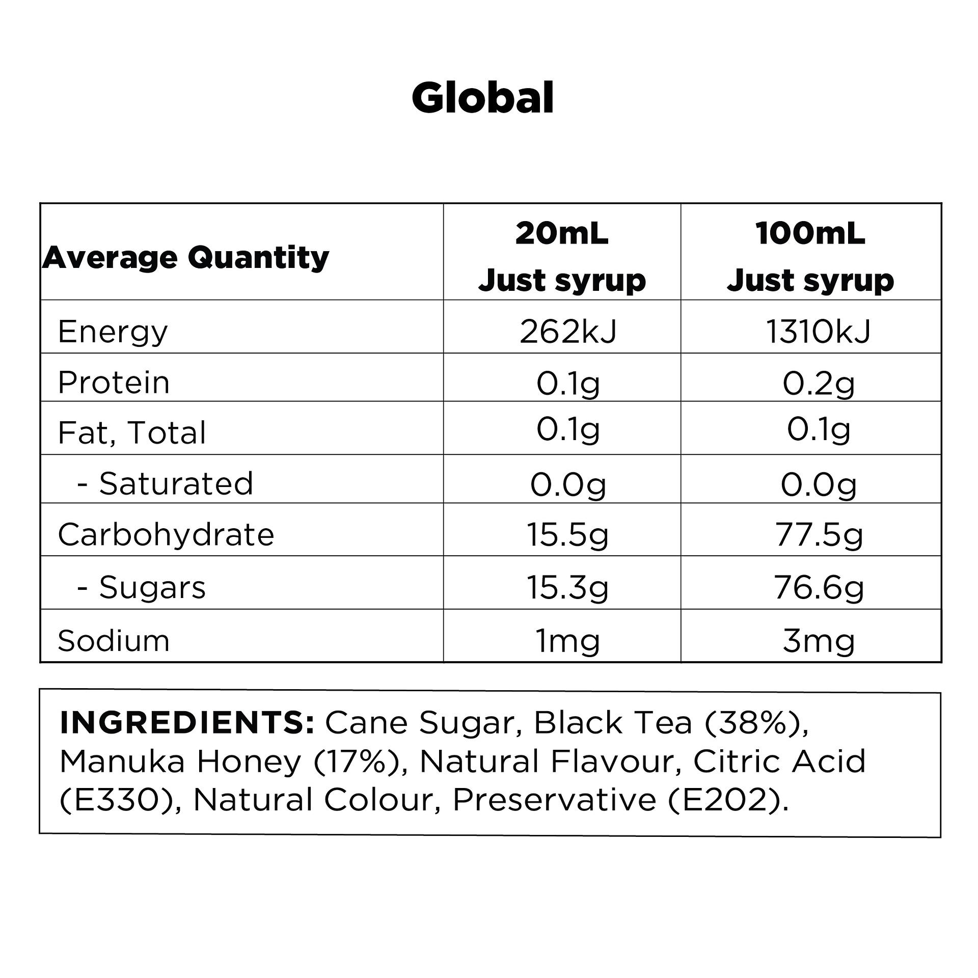 Q Black Tea & Manuka Honey Hot & Cold Infusion 500mL